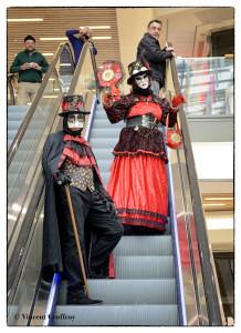 dans les escaliers mécaniques du Jeu de Paume (photo V Geoffroy)