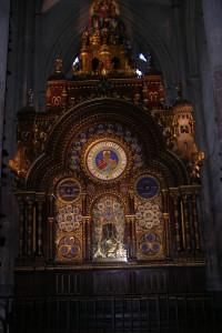 l'horloge astronomique de la cathédrale