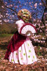 Rosa feuilles baroques n°2