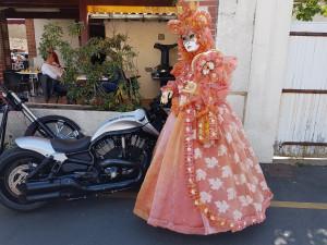 c'est la 3° fois que je pose devant une Harley Davidson(photo P Bacher) !