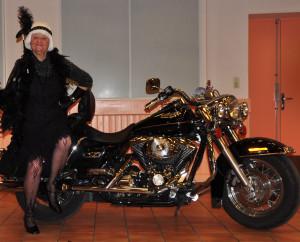avec la Harley Davidson  photo eve sammaritano