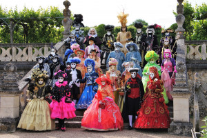 les 32 costumés présents à Villandry (photo P Yvars)